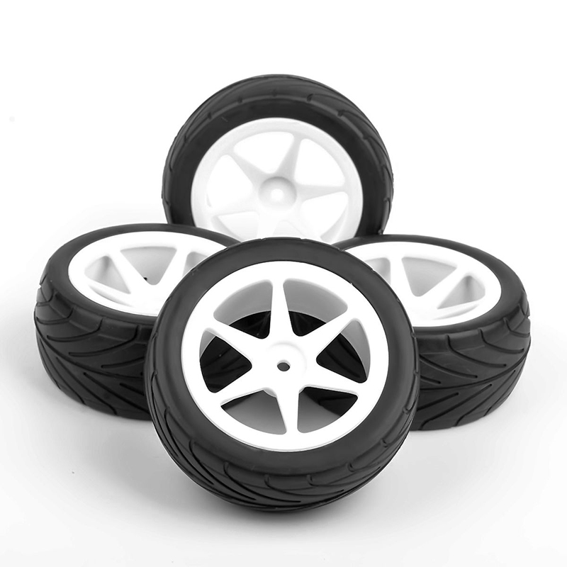 4pcs/set On-Road Tires Hex 4Pcs Rubber Tyre Wheel for toys RC 1:10 Off Road For HSP HPI RC Car 4pcs 1 10 on road rubber tyre for hsp tamiya losi rc car tyre