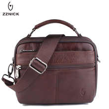 ZZNICK Genuine Leather Men Bag Small Shoulder Crossbody Bags Men Messenger Bags Men's Leather Bag Casual Handbags Hot Sale