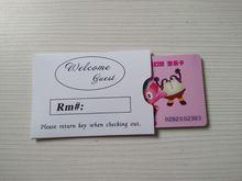 Ограниченное предложение OEM печатные ключ Визитница с карты бумаги и клиентов логотип