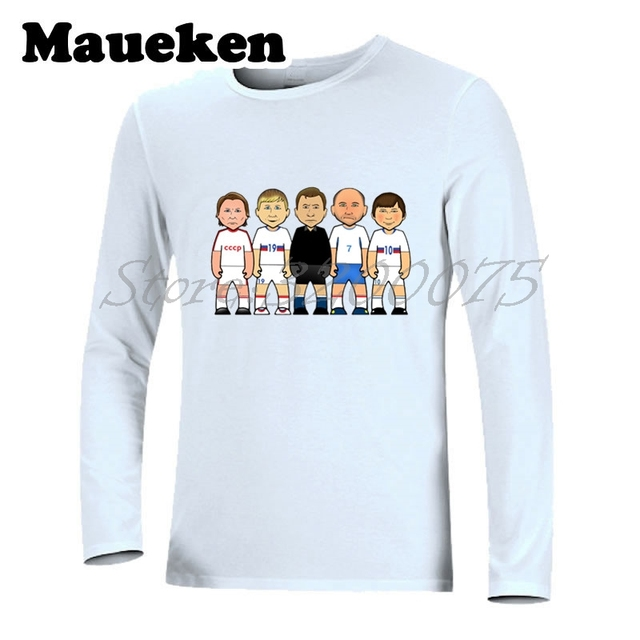 b410c36605313 Hombres camiseta manga larga Camiseta Rusia leyendas Andrei Arshavin Lev  Yashin Oleg Blokhin W17080610