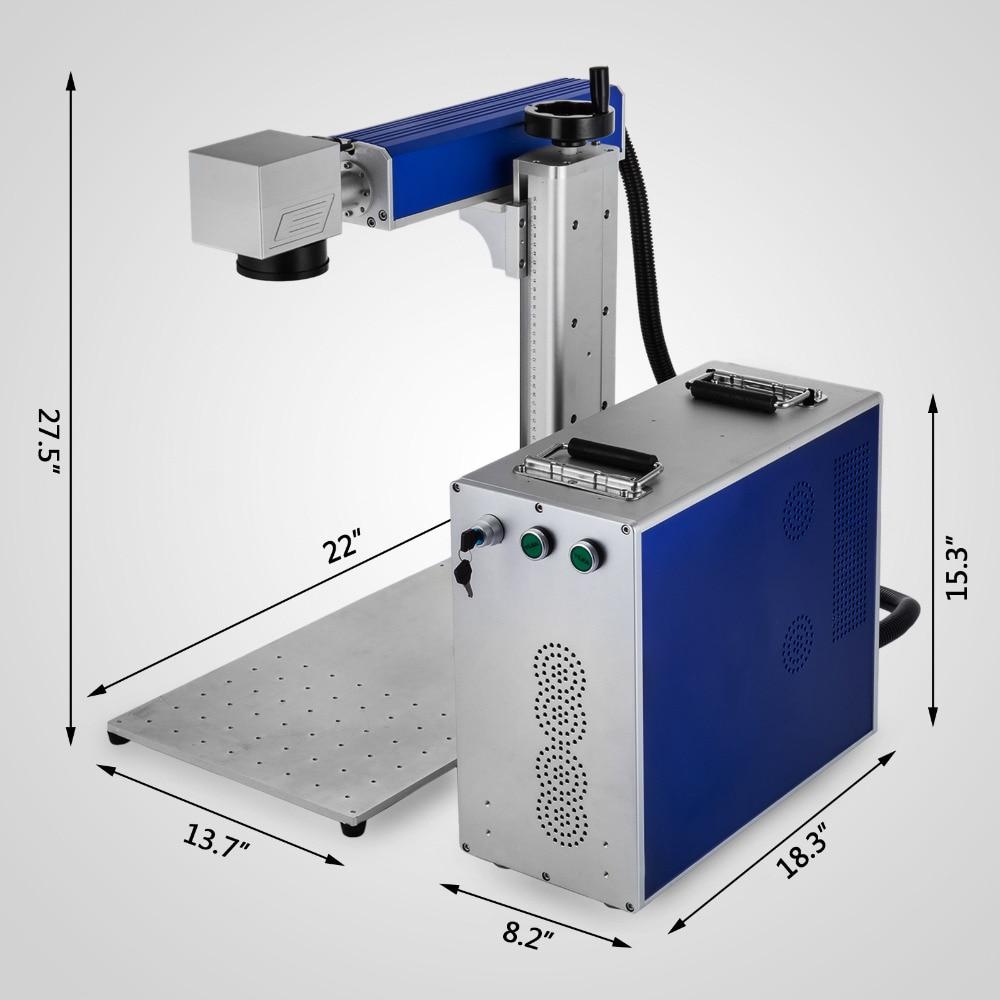20W Fiber Laser Marking Machine Laser Engraver For Metal & Non Metal