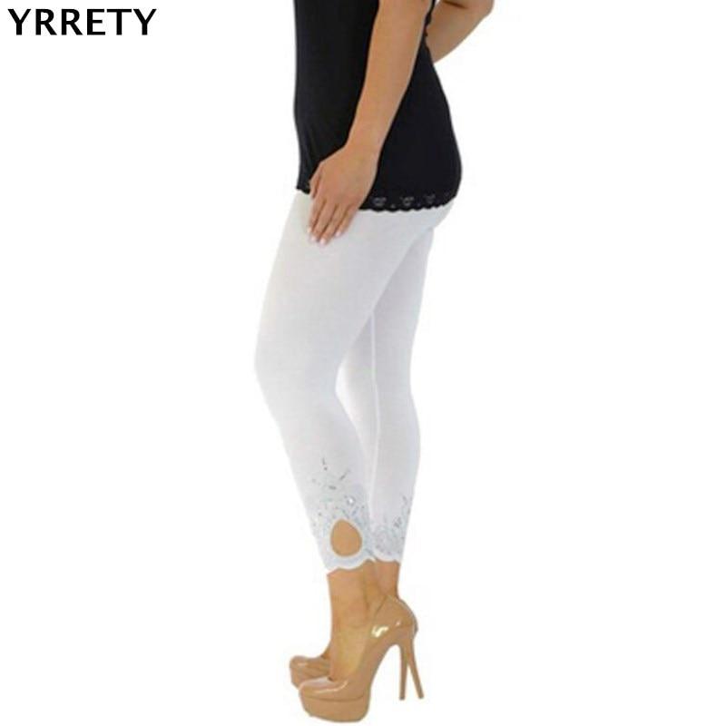 YRRETY Women Push-up   Leggings   Print Fashion Patchwork Elastic Skinny Fitness   Leggings   Sporting Clothing For Women White Pants