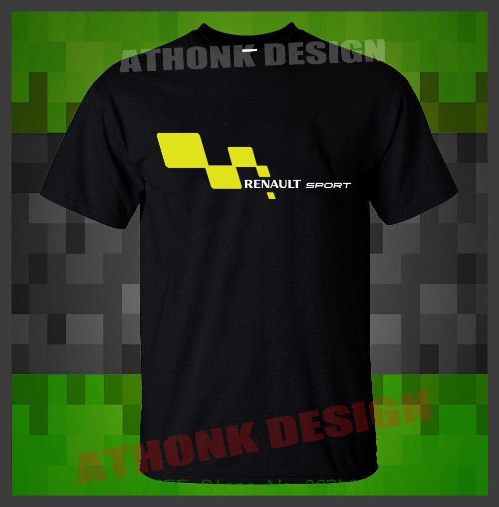 Summer Style Mens T-shirt New Renault Sportsy Racer T-shirt Renault Car Clio Megane racerT-shirt