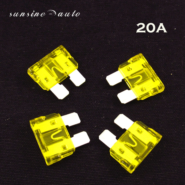 100pcs 20 Amp Auto Car Truck Standard Blade Fuse 20a 32v Fast Acting Atc Boat Suv Automotive Replacement