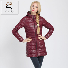 2016 High quality brand ladies with spring autumn coat women ultralight 90% white duck down coat with a bag of women's jackets