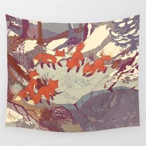 Image 5 - CAMMITEVER Feder Indischen Wand Eule Deer Decor Strand Handtuch Wandteppich Hängen Wald Hause Yoga Matte Farbe Bettdecke