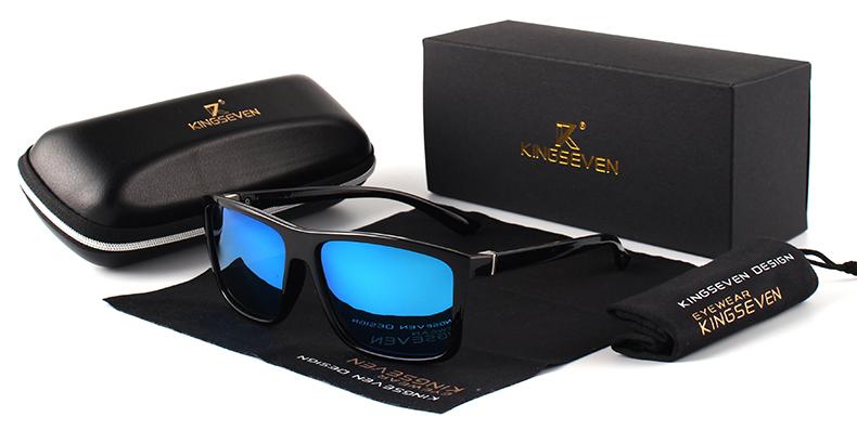 KINGSEVEN Brand Vintage Style Sunglasses Men UV400 Classic Male Square Glasses Driving Travel Eyewear Unisex Gafas Oculos S730 6