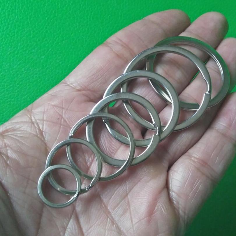 20PCS DIY Key Ring Metal Silver Nickel Split Key Ring Keyring 10mm/15mm/20mm/25mm/28mm/30mm/32mm/35mm Connectors