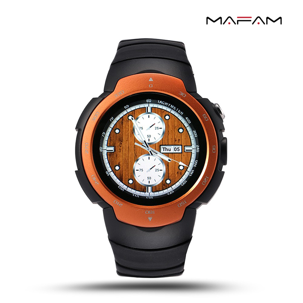 Waterproof Smartwatch 2018 Bluetooth GPS Smart Watch Phone 3G Camera Watch Wifi Heart Rate Monitor Sport Watch Men Gift
