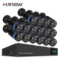 H View 16CH Surveillance System 16 1080P Outdoor Security Camera 16CH CCTV DVR Kit Video Surveillance