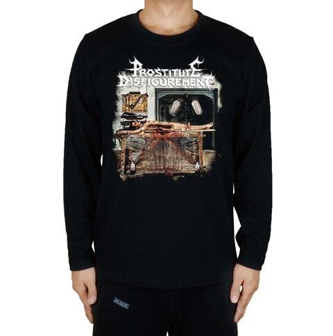 16 дизайнов, футболка для проститутки, секс, убить рок, брендовая футболка, хлопок, панк, фитнес, Hardrock, металл, черный, длинный рукав, рубашки - Цвет: 13