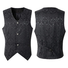 Steampunk Waistcoat Jacket Victorian Sleeveless Gothic Brocade uniform Costumes Coat Vintage Vest