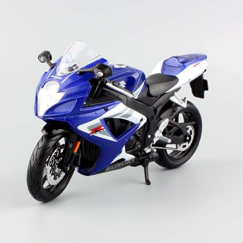 1/12 Bilancia Maisto SUZUKI GSX-R 750 Gixer Resistenza della bici di sport Diecast modello del motociclo del giocattolo del veicolo auto per i regali dei bambini