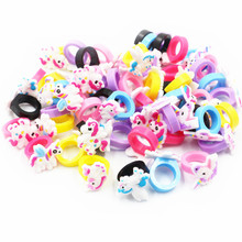6ps Dinosaur Flamingo Unicorn Party Favors Rubber Ring Mermaid Birthday Decorations Kids Baby Shower Jungle Supplies
