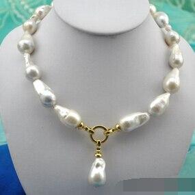 Il trasporto libero 001618 barocco bianco keshi reborn perla pendente della collanaIl trasporto libero 001618 barocco bianco keshi reborn perla pendente della collana
