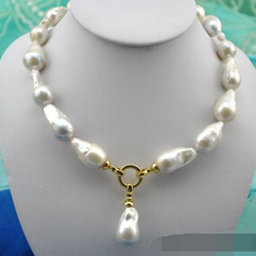 free shipping 001618 baroque white keshi reborn pearl necklace pendant цена и фото