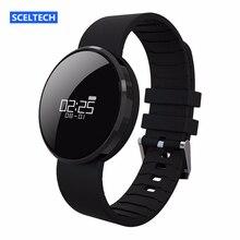 НА СКЛАДЕ SCELTECH UW1 Bluetooth4.0 Умный Браслет Экран зеркало Монитор Сердечного ритма IP67 Водонепроницаемый Вызова Напоминание для Android iOS