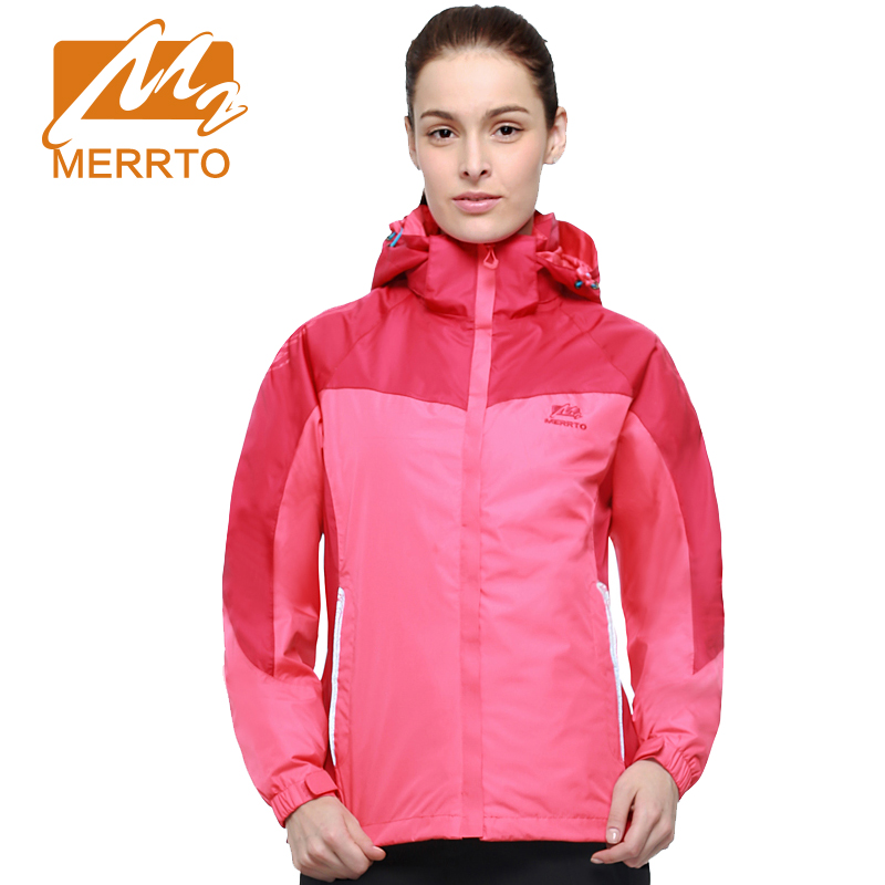 MERRTO Women's outdoor Windproof Waterproof Winter shell+Lined Two Pieces set Outdoor Jackets camping hiking keep warm Coat yin qi shi man winter outdoor shoes hiking camping trip high top hiking boots cow leather durable female plush warm outdoor boot