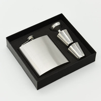 High Quality 7 Oz Stainless Steel Hip Flask Flagon Whiskey Bottle Cup Wine Mini Flagon 18cm