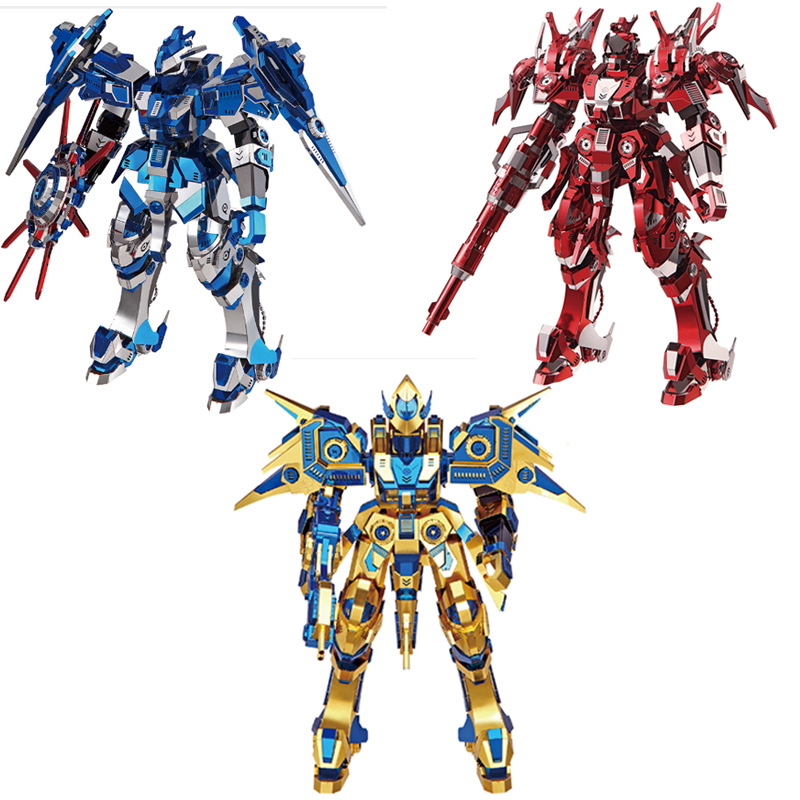 3D Metal Puzzles Model Colorful Blue Magnetic Rotation Red Thunder SKY Dominator Jigsaw Adult Children Educationa Collection Toy metal diy nano 3d puzzle model tiger tank kids diy craft 3d metal model puzzles 3d solid jigsaw puzzle