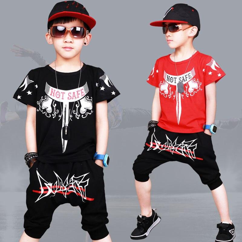 Children Clothes Sets Boy clothes 2018 Summer kids Sports Suit Street Dance Jazz Costume Boys Outfit 2 Piece Set baby Tracksuit