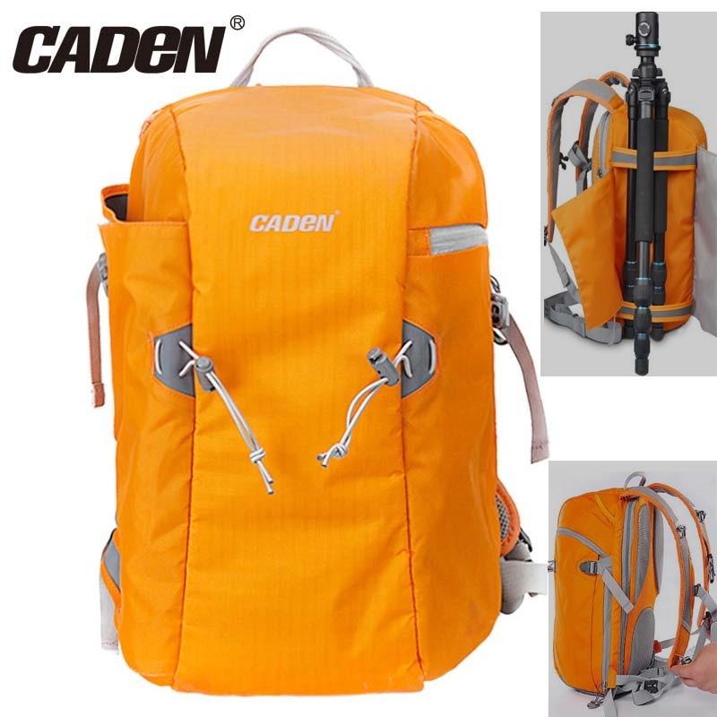 Caden E5 オレンジ一眼レフ三脚写真一眼レフ肩レジャーバッグ & レインカバーバッグトラベルバックパックキヤノンニコンソニー  グループ上の 家電製品 からの カメラ / ビデオ バッグ の中 1
