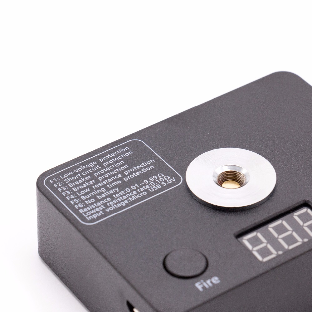 Electronic Cigarettes Volcanee Led Resistance Tester Ohm Meter Volt Meter Ohm Reader Diy Tool 510 Rda Vaporizer Atomizer E Cigarettes Tester Tool