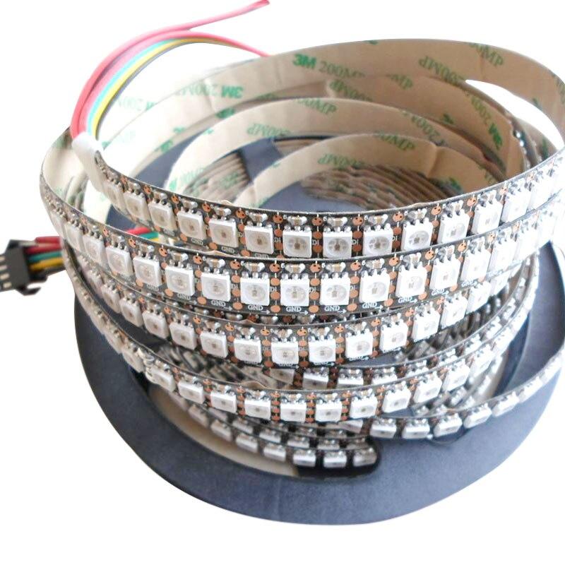 5mX New arrival SK9822 5050SMD RGB digital flexible led strip light DC5V input 30 32 48