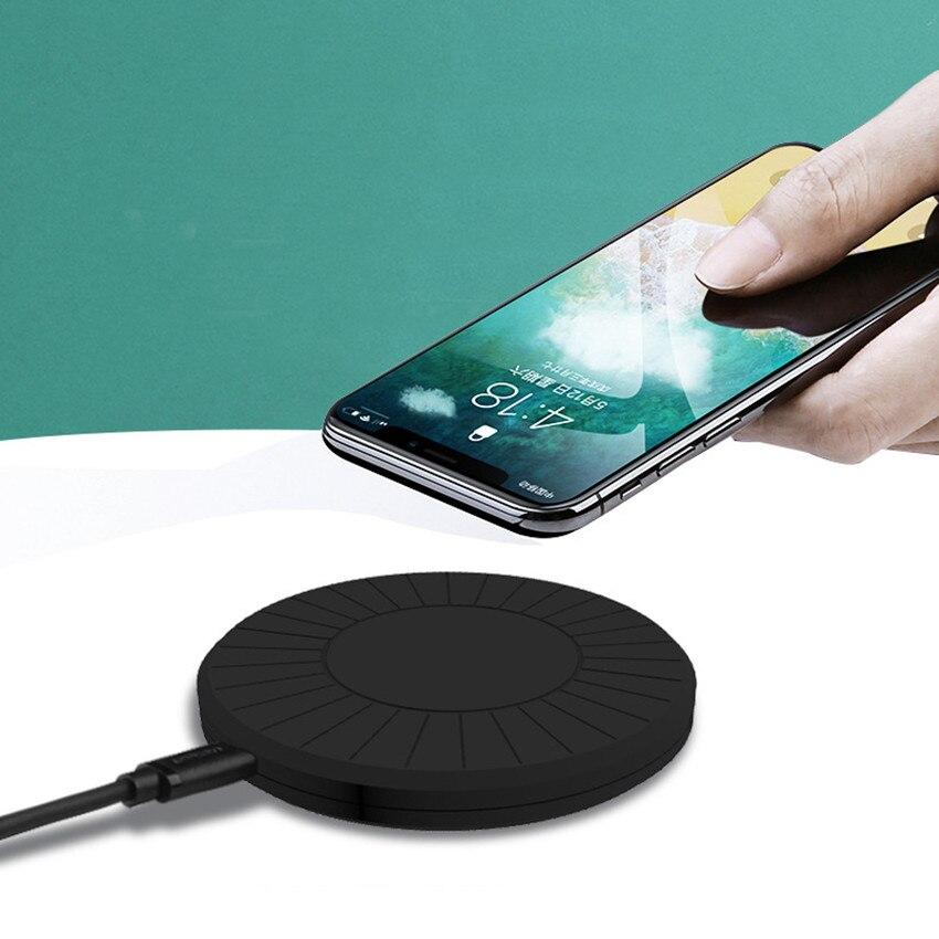 Carregadores sem fio Pad Portátil Chargeur 10 W Qi Sem Fio de Carregamento Sem Fio Para Iphone7 8 Xiaomi P30 Pro Samsung S8 indução