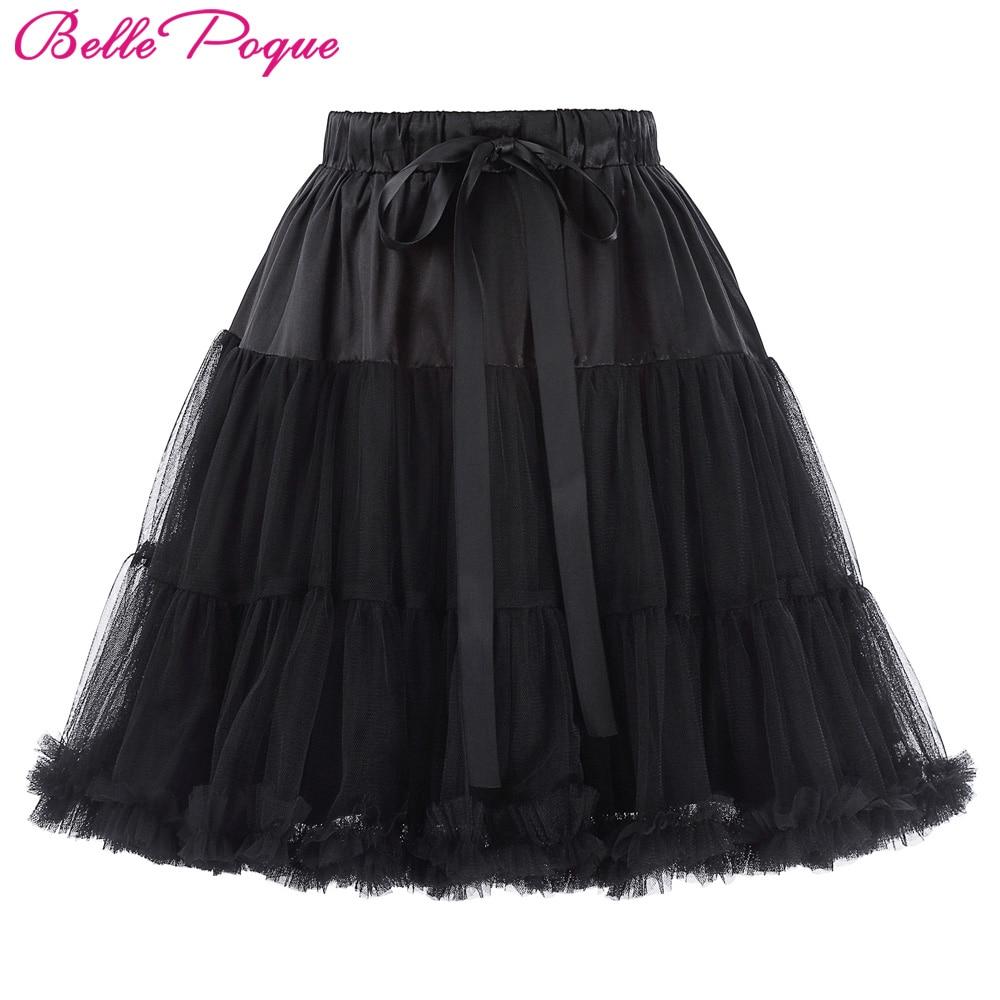 Beaut Shadow Store Mini Tutu Skirts Womens Underskirt Crinoline 3-Layers Fluffy Pettiskirt Retro Vintage Women Silps Rockabilly Tulle Petticoat