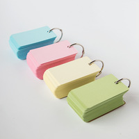 100 pcs/lot Cute Kawaii Colored Kraft Paper Memo Pad Post It Note Cards For Kids School Supplies Free Shipping 3822