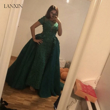 Tao Hill 2019 Green Evening Dresses Floor Length Prom Dress