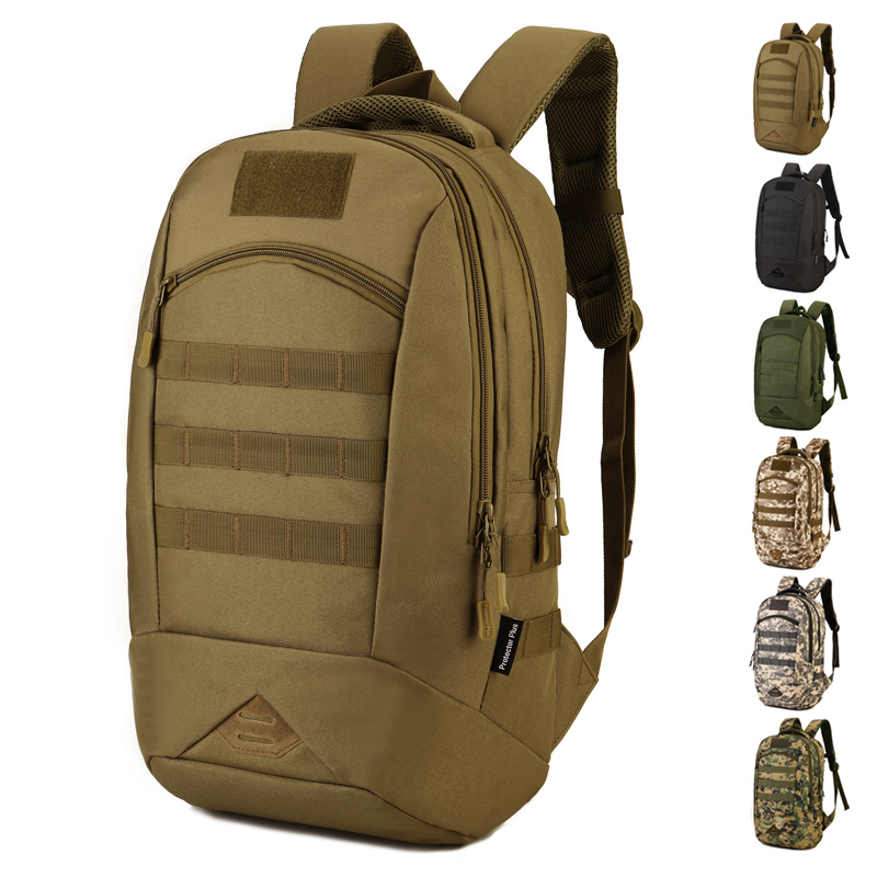 Camo Waterproof Nylon Military Rucksacks Tactical Backpack 35l Outdoor Sports Molle Tactical Bag For Camping Hiking Hunting S436 molle tactical military hunting usmc army molle hiking hunting camping rifle backpack bag high density nylon backpack