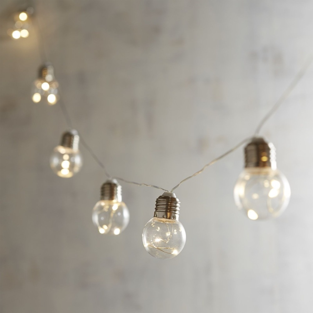 Vintage Battery G40 Festoon String Lights With 10 Bulbs Lighting Garland Led Fairy Lights For Wedding Events Garden Party Decor