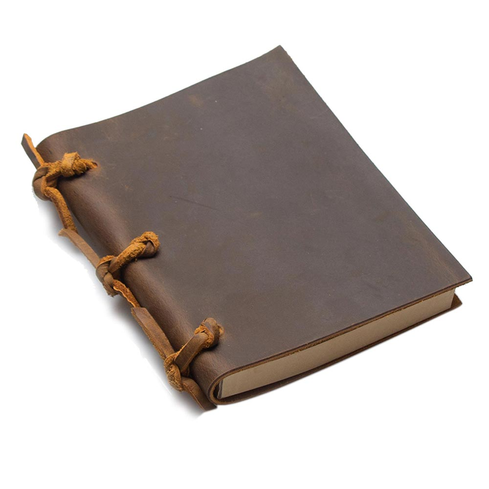 Notebooks Office & School Supplies Temperamentvoll Vintage Blank Diaries Zeitschriften Notebook Notizbuch Seil Reisenden Dicke Echte Leder Caderno Espiral Wöchentlich Planer Tod