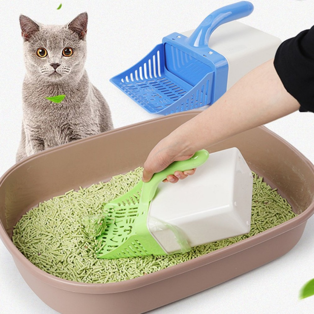 Semi-closed Portable Cat Litter Cleaning Tool Set Kitten Litter Scoop Pet Sand Shovel Cleaner Pet AccessoriesSemi-closed Portable Cat Litter Cleaning Tool Set Kitten Litter Scoop Pet Sand Shovel Cleaner Pet Accessories
