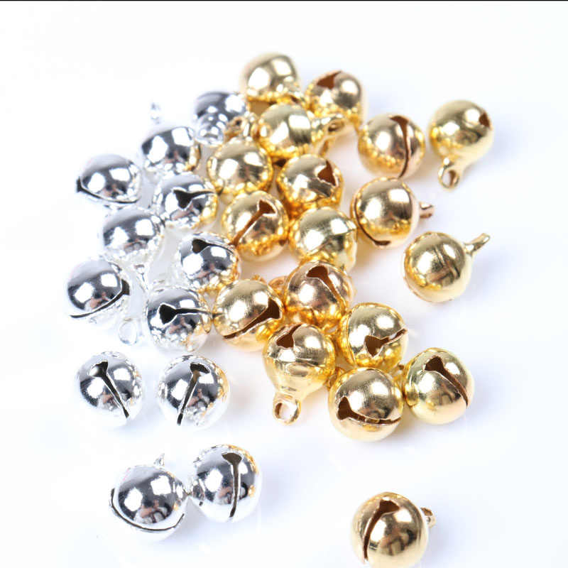 Dealglad/® New 100pcs Jingle Small Bells Christmas Xmas Wedding Decoration Beads Jewelry Findings Charms Silver, 8mm