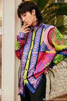 WB07186 модные Для мужчин рубашки 2018 взлетно посадочной полосы Элитный бренд Европейский Дизайн вечерние стиль Мужская одежда