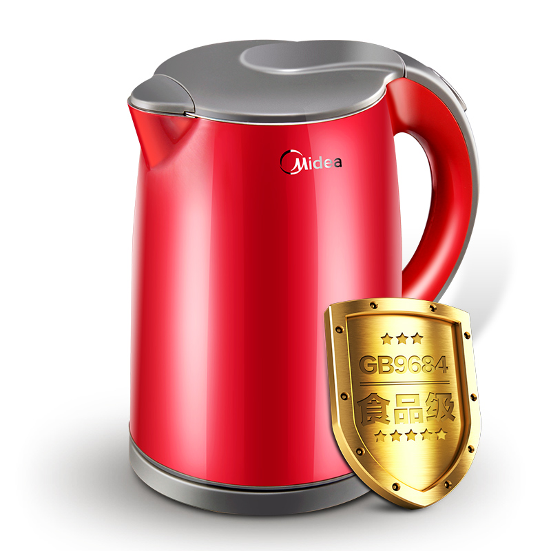 Automatic power-off  electric kettle 304 stainless steel Anti-scald water Kettle Red Kitchen Appliances borner power win 304