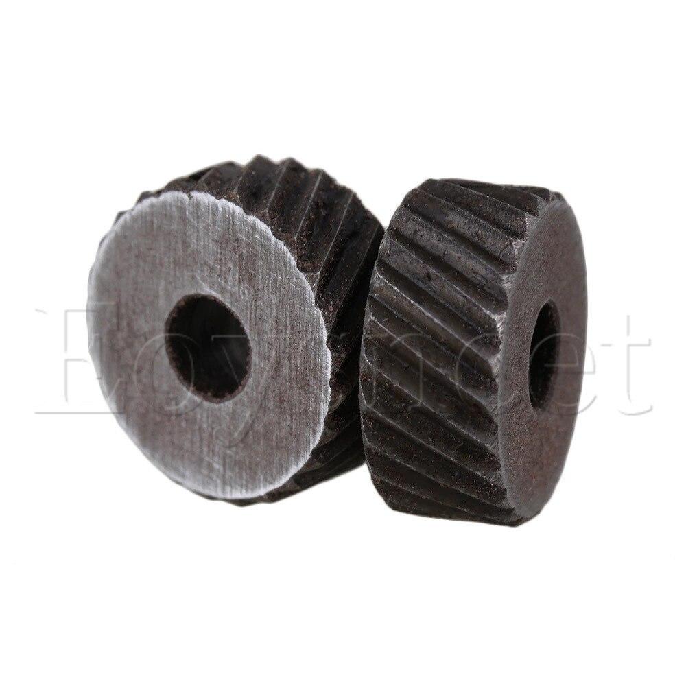 Silver 2mm Anti Slip Diagonal Coarse Knurl Wheel For Metal Lathe Pack Of 2