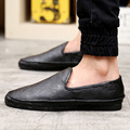 Hot 2015 casual shoes men slip on loafers California winter shoes softer leather platform casual shoes Men flats Free Shipping