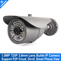 720P Network IR Bullet IP Camera Securiy CCTV HD Outdoor IP Camera 1.0MP, ONVIF,3.6mm Lens With IR-Cut,30M IR Range P2P Cloud