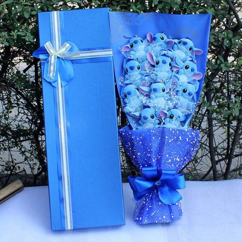 Carton Animaux Point De Bouquet En Peluche En Peluche Jouets Artificielle Kawaii de Bande Dessinée Faux Fleurs décoration de mariage Cadeaux du Jour de Valentine
