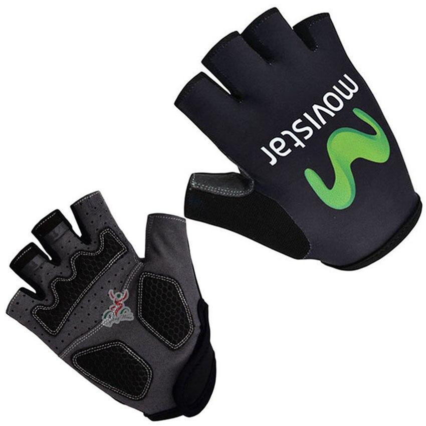 Цена за 2015 Movistar Велосипедной Команды Перчатки/Половина Finger MTB Велосипед Перчатки Спорта/Дышащий Гонки Ciclismo MTB Велосипедов Цикла Перчатки