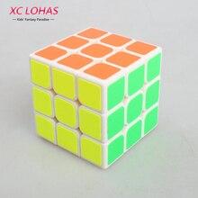 3x3x3 Sticker Magic Cube 3 Layers High Speed Twisty Puzzle Magic Cube Toy Boy Children Educational