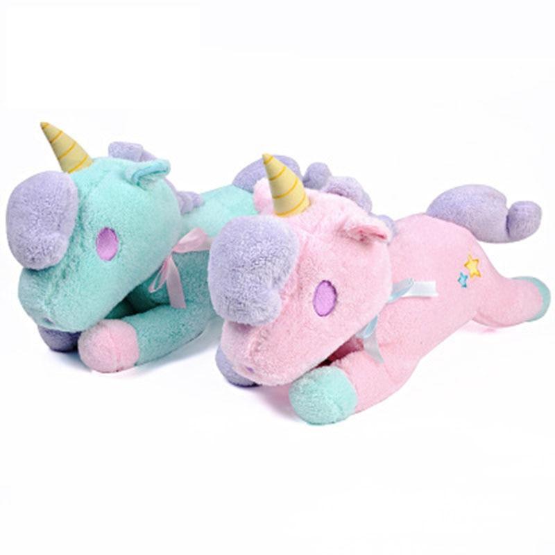 55cm Unicorn Stuffed Plush Toys Tissue Box Oyuncak Animals Doll Brinquedos Dolls STUFFED TOYS Soft Doll Gift Toys for girls
