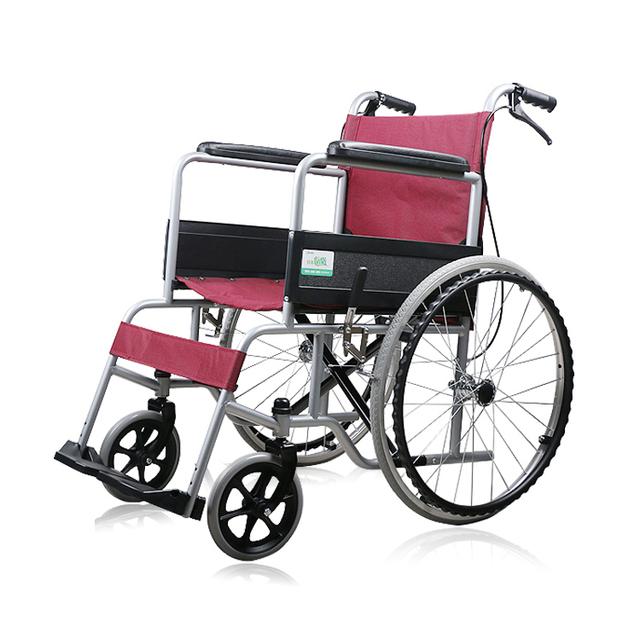 Hogar y hospital de equipos médicos De Alta calidad de aleación de aluminio silla de ruedas silla de ruedas plegable de moda portátil