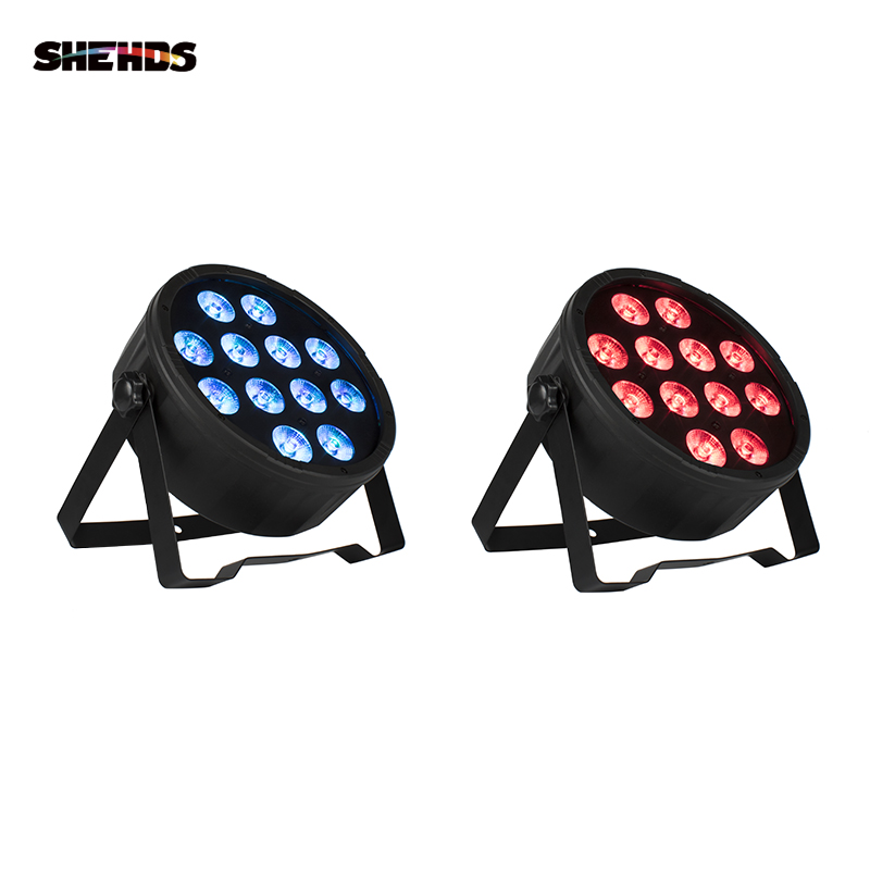 SHEHDS 2019 NEW <font><b>LED</b></font> Flat <font><b>Par</b></font> <font><b>12x12W</b></font> RGBW 4IN1 RGBW <font><b>LED</b></font> Light DMX512 Stage Effect Music Club DJ Light DMX <font><b>Led</b></font> <font><b>Par</b></font> Party Lights image