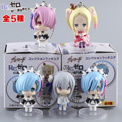 Toys & Hobbies Re:life In A Different World From Zero Anime Figure 5pcs Rem&ram Emilia Beatrice Q Version Pvc Action Figures Model Toys Dolls