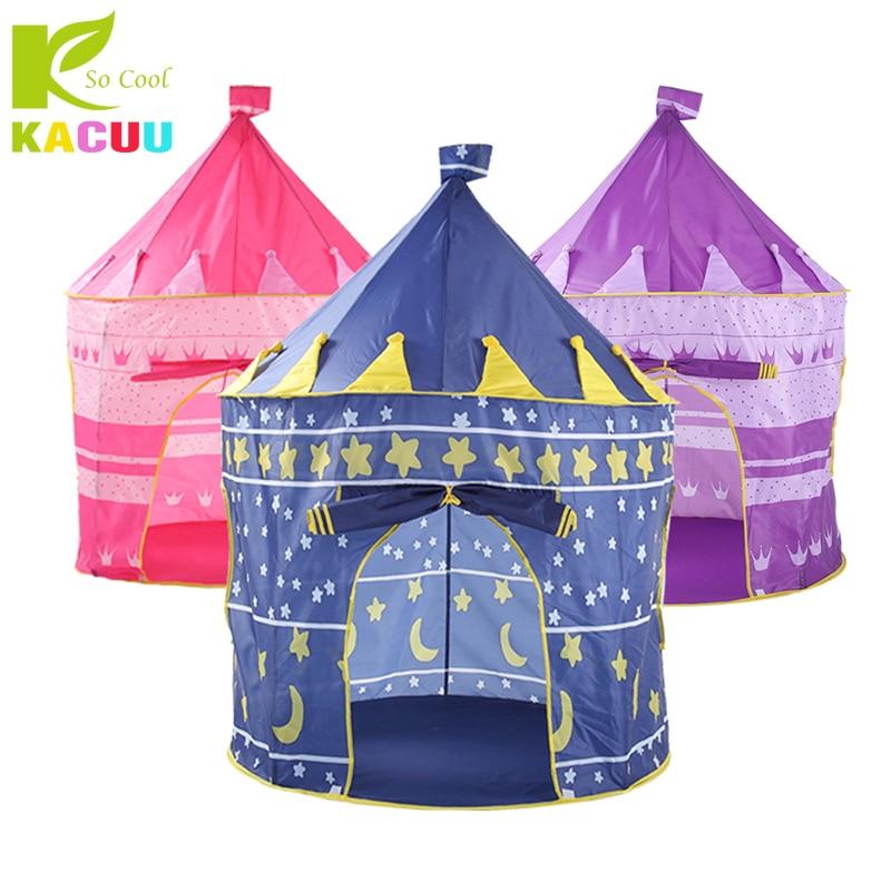 Jouet Tentes Adorable Château Playhouse Espace Thème Pliable Petit Prince Et Princesse Tente Robuste Maison de Jeu Pour Enfants Cadeau Jouet